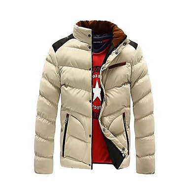 Men's Fashion Color Padded Cotton Down Jacket
