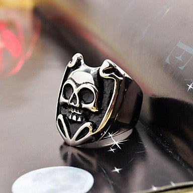 Lovely Men's Laughing Skull Stainless Steel Ring