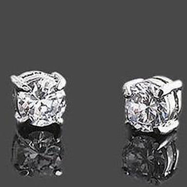 Men's Classic Rhinestone Magnet Cilp Earrings