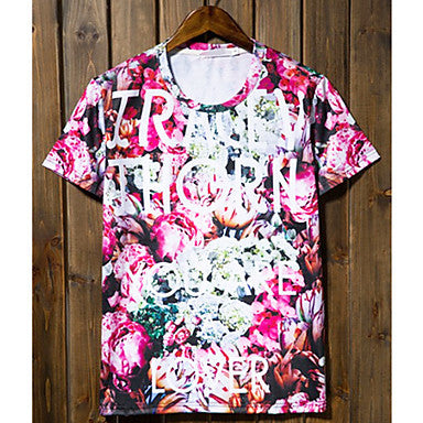 Men's Casual Print Short Sleeve T-Shirts
