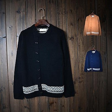 Men's Retro Decorative Buttons Sweater