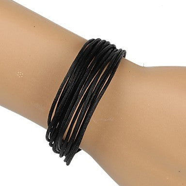 Fashion Braided Bracelet Simple and Comfortable Black (1 Piece)
