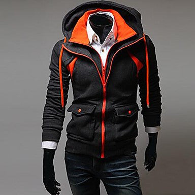 Men's Hoodie Long Sleeve False Hitting Scene Two Fleece Jacket