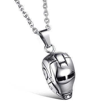 Fashion Jewelry Iron Man Stainless Steel Men's Pendant Necklace (1pcs)