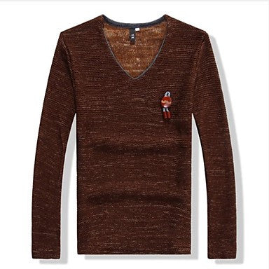 Men's Slim Casual Long Sleeve Sweaters(More Colors)