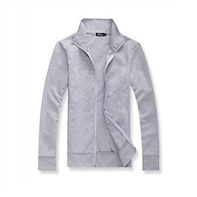 Men's Stand Collar Zipper Cardigan Outwear