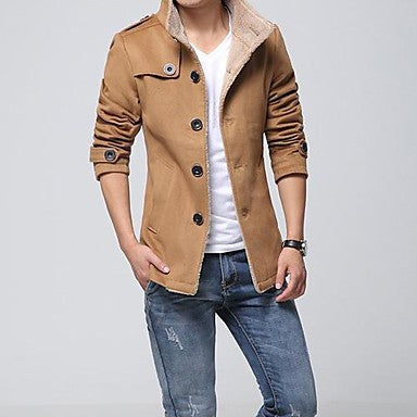 Men's Leisure Fashion Single Breasted Coat