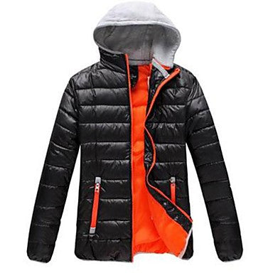 Men's Hoodies Slim Fit Feather Dress Warm Fleece Thickening Overcoat