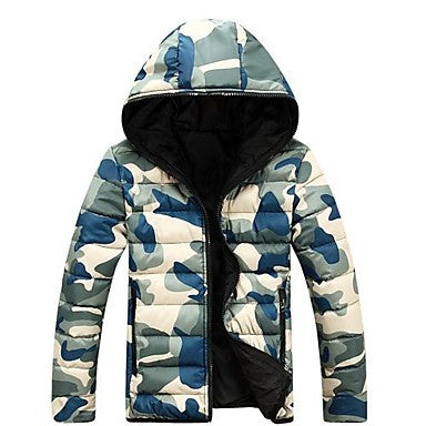 Men's New Blasting Leisure Fashion Hooded Coat