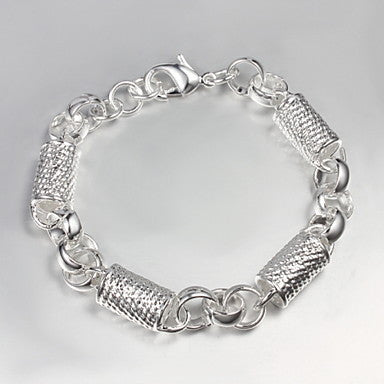 Ethnic 21cm Men's Silver Silver Plated Charm Bracelet(1 Pc)