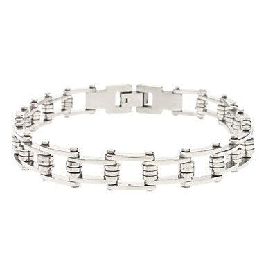 Chain Pattern Stainless Steel Bracelet