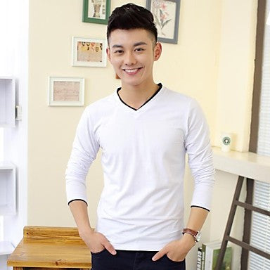 Men's Long Sleeve Slim T-shirt