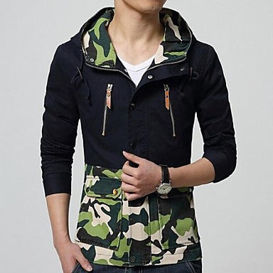 Men's Cotton Hooded Camouflage Jacket