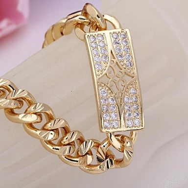WoMen's New Fashion 18K Gold Plated Star Pattern Pendant Zircon Necklace SL0091