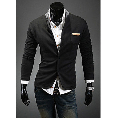 Men's Wild Slim Stand Collar Blazer Multi-buckle Button Suit