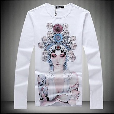 Men's 2014 Spring New Brand Long Sleeve Cotton T-shirt