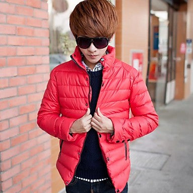 Men's Stand Collar Long Sleeve Casual Down Jackets (More Colors Available)