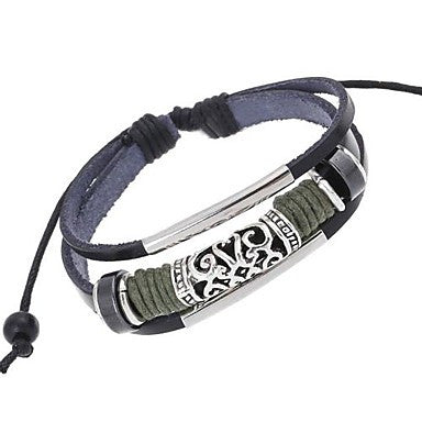 Hot New European Style Braided Beaded Leather Bracelet