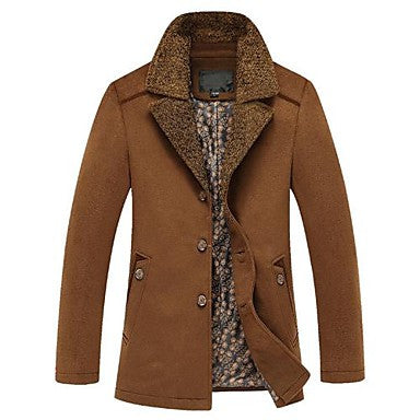 Men's Warm Woolen Coat Jacket