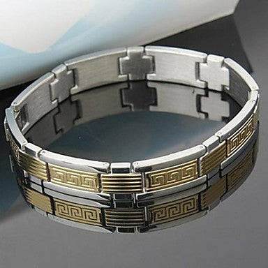 Men's Fashion Personality Titanium Steel Non Mainstream The Great Wall Splicing Bracelets