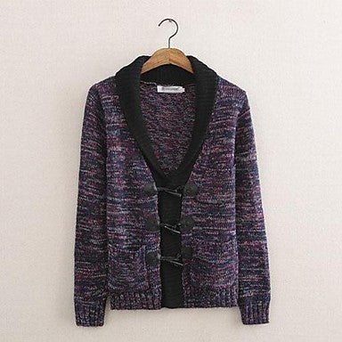Men's Pure Cardigan Sweater Knit