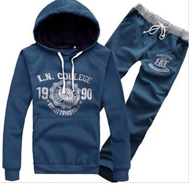 Men's Fashion Hoodies Set with A Hood Lovers Sport Set