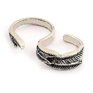 Fashion Retro Double Rings Men Random Size