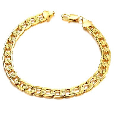 Fashion Classic Copper Plating Men 18 K Gold Bracelet