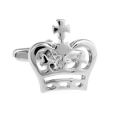 Fashion Gentleman Men Cufflink Silver Crown Crystal Wedding Party Shirt Cuff Links Cufflinks