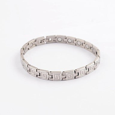 Fashion Men's Silver Vintage Health Magnet Titanium Steel Bracelets