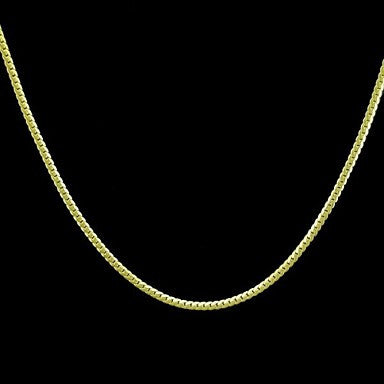 18K Gold Plated Figaro Chain Copper Necklace 49cm