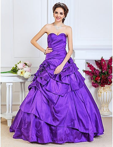 Ball Gown Sweetheart Floor-length Taffeta Evening/Prom Dress
