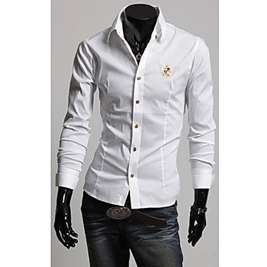 Men's Causal Embroidery Shirt with