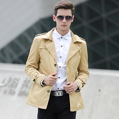 Men's new Causal Fashion 100% Cotton Coat
