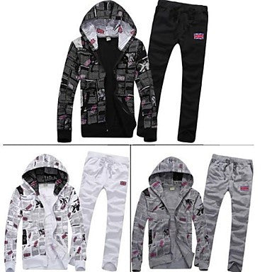 Men's Fashion with A Hood Hoodies Jacket Slim Sport Set