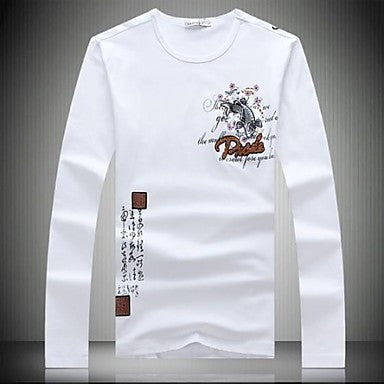 Men's New High Quality Brand Long Sleeve Cotton T-shirt