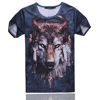Men's of High Quality 3D Creative with Short Sleeves¡ª¡ªWolf Pattern