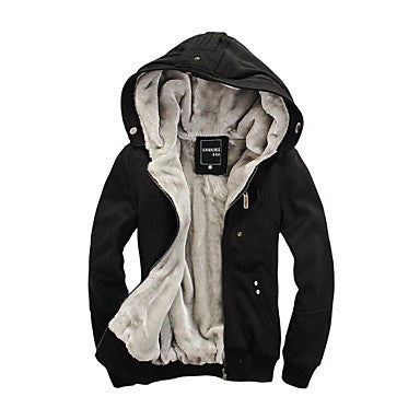 Men's Fashion Leisure Large Code Thickened with Velvet Hoodie