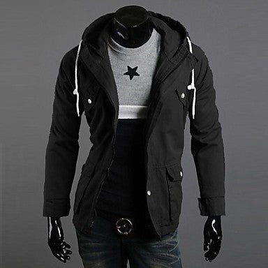 Men's Hooded Winter New Casual Long Sleeved Jacket