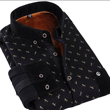 Men's Horse Figure Printing Business Shirt