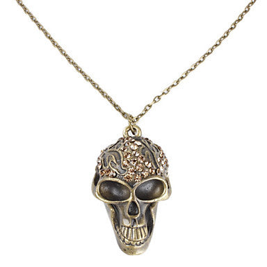 Crazy Skull Necklace with Rhinestone