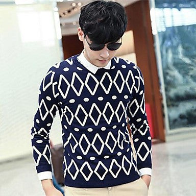 Men's Round Neck Printing Loose Sweaters(More Colors)