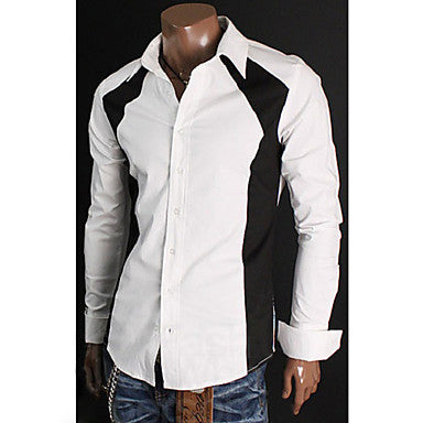 Men's Stylish Contrast Color Cotton Shirt