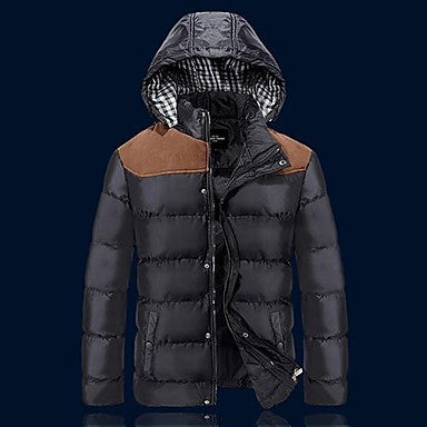 Men's Short Hooded Thick Warm Padded Jacket