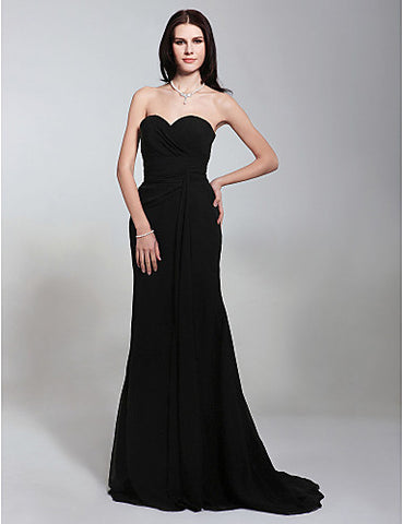 Chiffon Trumpet/ Mermaid Sweetheart Evening Dress Inspired by Angelina Jolie