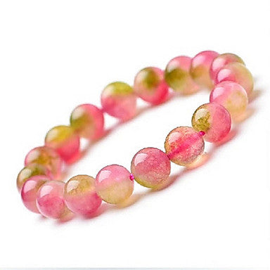 Health Caring Sweet Colorful Naturel Crystal Hologram Bracelet(1 Pc)