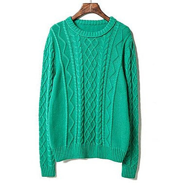 Men's New candy color Crewneck sweater twisting turtleneck sweater.
