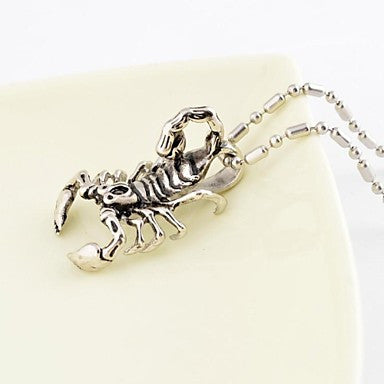 Vintage Men's Scorpion Titanium Steel Pendant Necklace