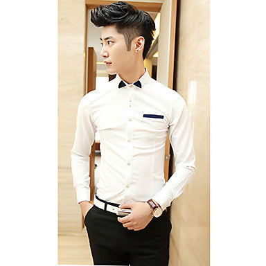 Men's Trendy Bow Tie Dress Shirt