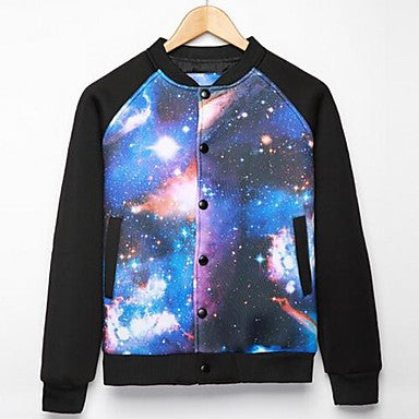 Men's Fall New Korean Style Printing Long Sleeve Jackets